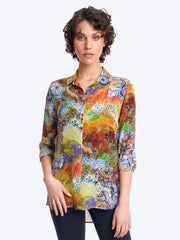Plus Aberdeen Washable Silk Loving Blouse