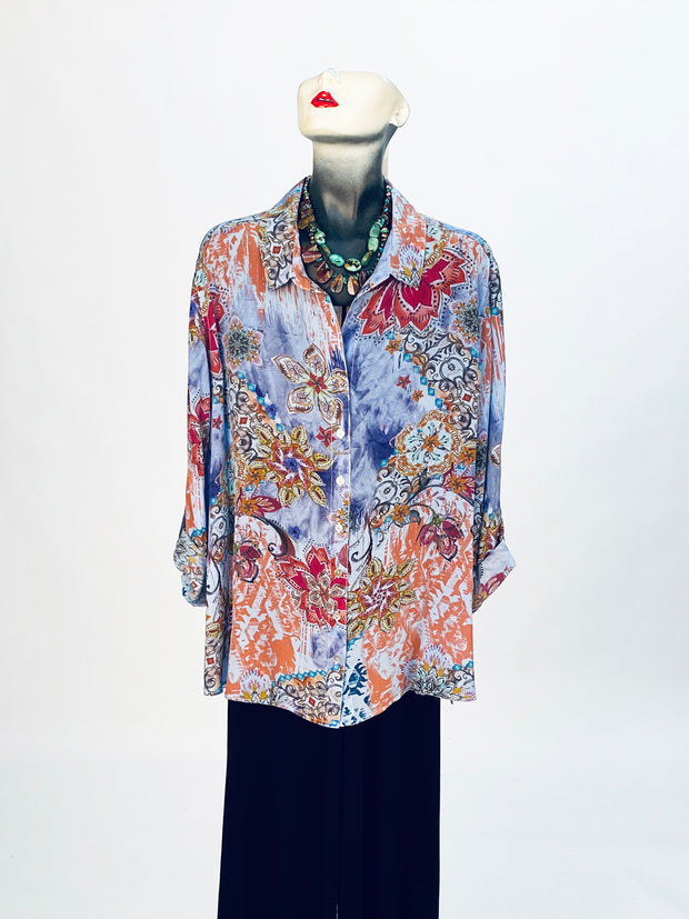 Plus Felina Washable Silk Loving Blouse