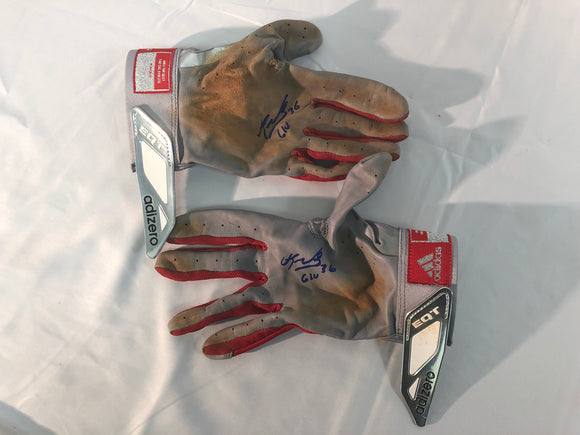 Eduardo Nunez Signed/Game Used Gloves - Celebz Direct