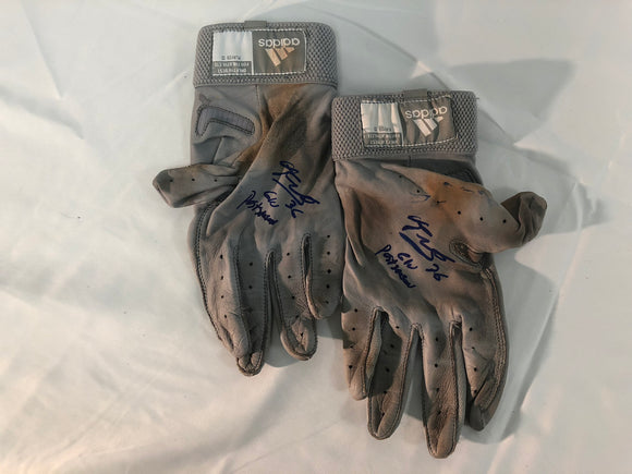 Eduardo Nunez Signed/Game Used Post Season Gloves