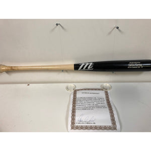 Carlos Correa Game Used Cracked Two-Toned Marucci Rookie Bat - Celebz Direct