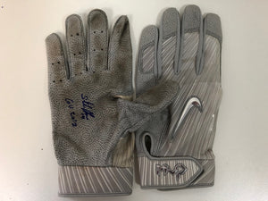 Starlin Castro Game Used Yankees Batting Gloves
