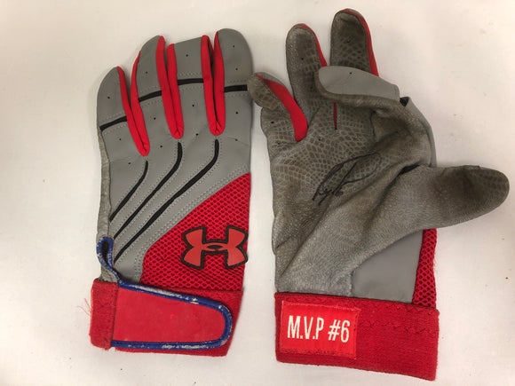 Ryan Howard Autographed Game Used Batting Gloves - Celebz Direct