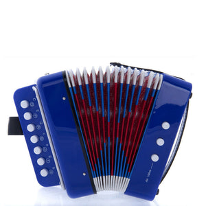 SKY Accordion Blue Color 7 Button 2 Bass Kid Music Instrument