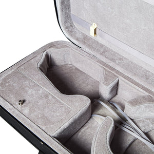 SKY QF14 Oblong Lightweight 16'' Viola Case with Hygrometer Black/Grey
