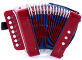 SKY Accordion Red Color 7 Button 2 Bass Kid Music Instrument