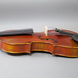 Beautiful Hand Carved Castle Violin 4/4 Open Clear Tone Two Piece Maple Back