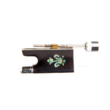 SKY Ebony Violin Bow Frog with Beautiful Abalone fleur de lys Suitable for 4/4 Violin Bow