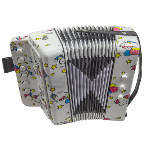 SKY Accordion Hello Kitty Pattern 7 Button 2 Bass Kid Music Instrument