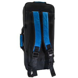 Paititi Lightweight Alto Saxophone Case, Strong, Durable with Backpack Straps Black/Blue