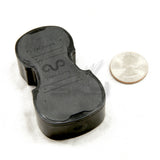 Yeanling Big Black Violin Shaped High Quality Rosin for Violin Viola Cello, Light and Low Dust