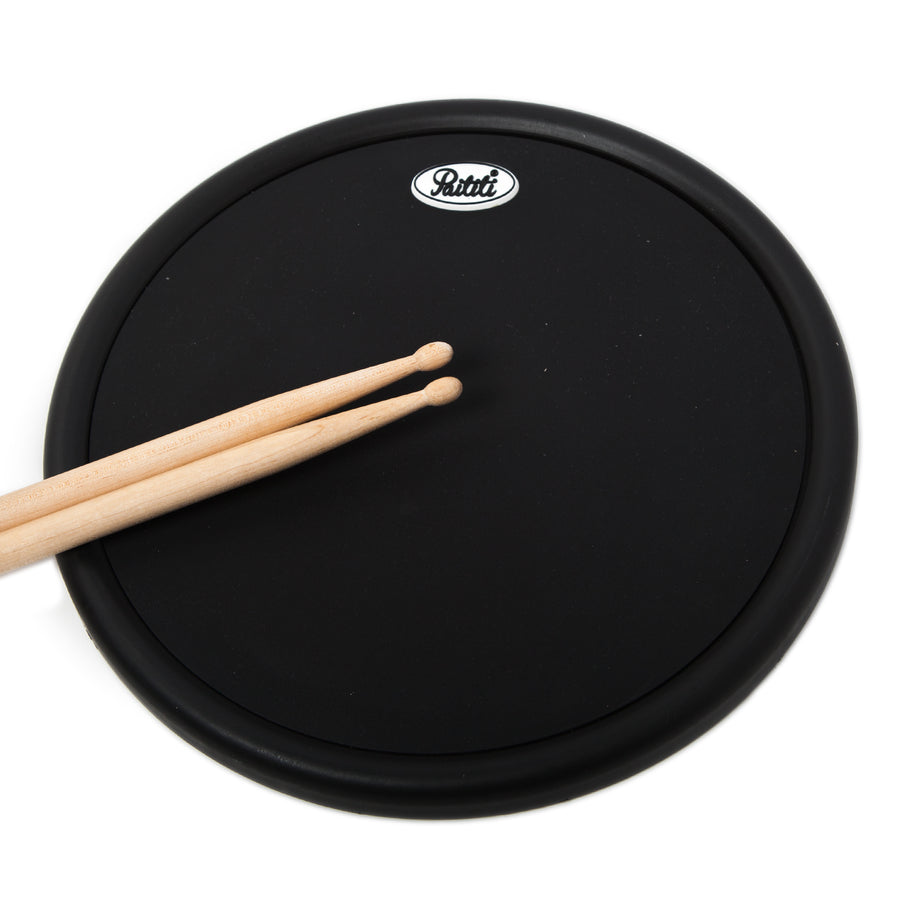 PAITITI 10 Inch Portable Practice Drum Pad with Carrying Bag