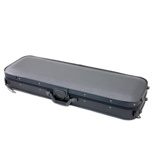 SKY Violin Oblong Case Solid Wood Imitation Leather Black/Black Khaki