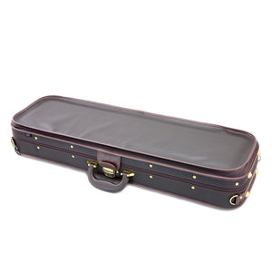SKY Violin Oblong Case Solid Wood Imitation Leather with Hygrometers Brown/brown Khaki