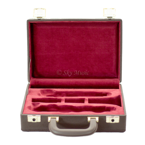 Professional Replacement Case for Bb Clarinet Imitation of Leather (Brown/Red)