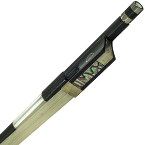 SKY 4/4 Violin Bow Satin Carbon Fiber Round Stick Mongolian Horsehair with Double Pearl Eye