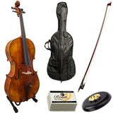 Paititi PT200 Solid Wood Ebony Fitted 4/4 Professional Acoustic Cello Kit
