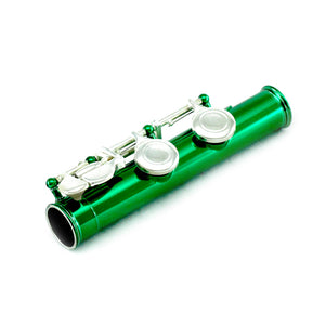 Sky C Foot Flute Green Silver Closed Hole Band Approved