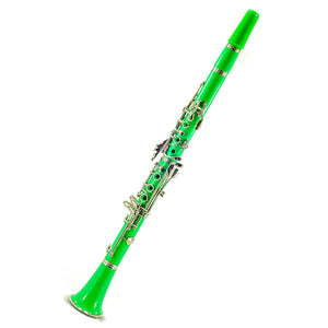 SKY Green ABS Student Bb Clarinet with Case, Mouthpiece, 11 Reeds, Care kit and more