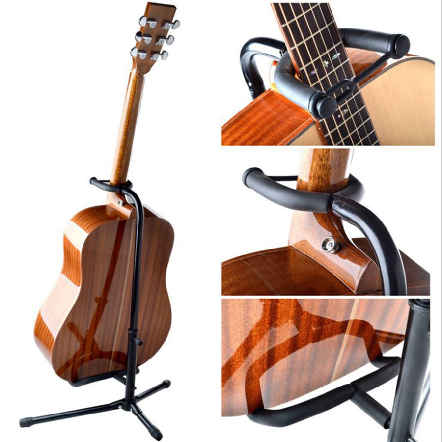Sky Music Electric, Acoustic and Bass Guitar Adjustable Stand Black