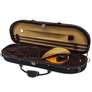 Sky Violin Halfmoon Case HM07 Lightweight with Hygrometer Black/Brown Khaki
