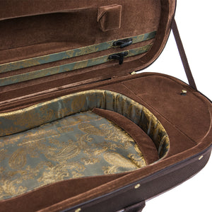 Sky Violin Halfmoon Case HM01 Lightweight with Hygrometer Black/Brown Khaki