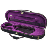 Sky Violin Halfmoon Case HM03 Lightweight with Hygrometer Black/Magenta Silk
