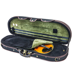 Sky Violin Halfmoon Case HM05 Lightweight with Hygrometer Black/Black Green