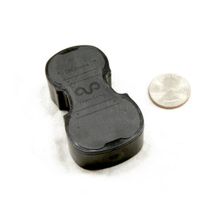 Yeanling Black Violin Shaped High Quality Rosin for Violin Viola Cello, Light and Low Dust