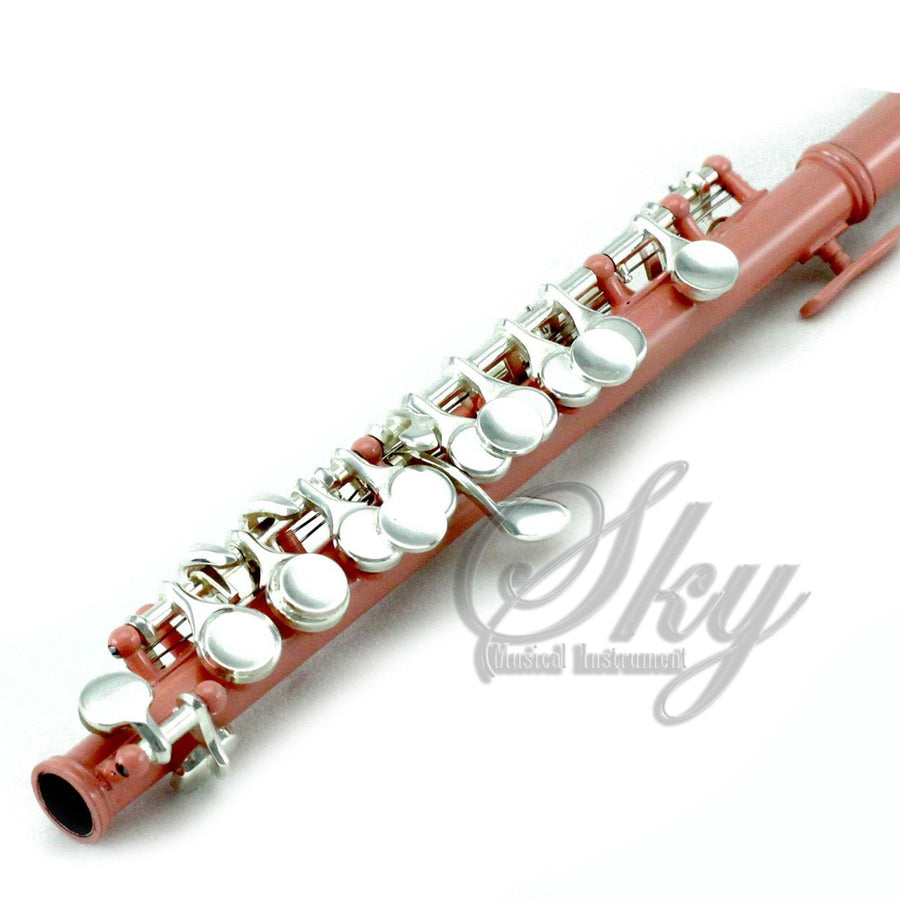 Sky(Paititi) Band Approved Velvet Pink Lacquer Plated Silver Key Piccolo Key of C Starter Kit