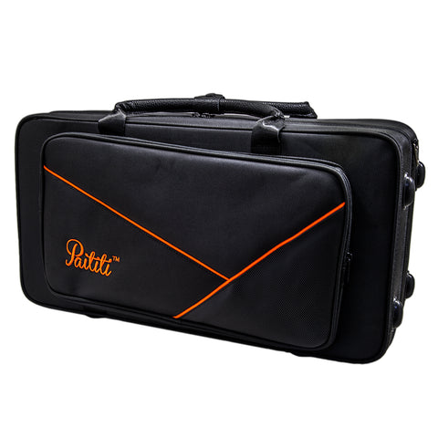 Paititi PTTRLW102 Lightweight Trumpet Case Strong with Backpack Straps, Black/Yellow