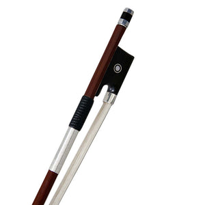 SKY Hand Carved 4/4 Violin Bow AA Grade Pernambuco Round Stick Silver Wrap Pearl Eye …