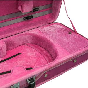 SKY QF6 Premium Oblong Violin Case with Hygrometer Pink Color