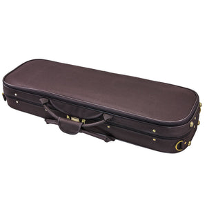 SKY QF20 Oblong Lightweight Violin Case with Hygrometer Brown/Khaki