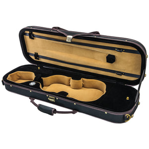 SKY QF21 Oblong Lightweight Violin Case with Hygrometer Black/black