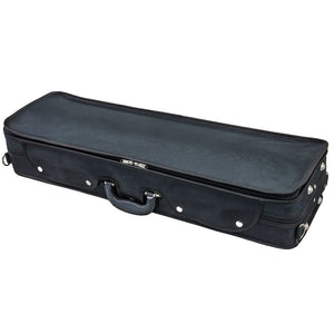 SKY QF22 Oblong Lightweight Violin Case with Hygrometer Black/black