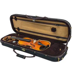 SKY QF24 Oblong Lightweight Violin Case with Hygrometer Black/Khaki
