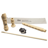 Paititi Soprano Recorder 8-Hole With Cleaning Rod + Carrying Bag, Creamy Color Key of C