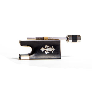 SKY Ebony Violin Bow Frog with fleur de lys Desigh for 4/4 Violin Bow