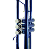 Sky Band Approved Blue Lacquer Plated Brass Bb Trumpet Guarantee Top Quality Sound