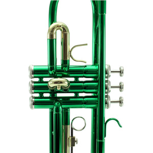 Sky Band Approved Green Lacquer Plated Brass Bb Trumpet Guarantee Top Quality Sound