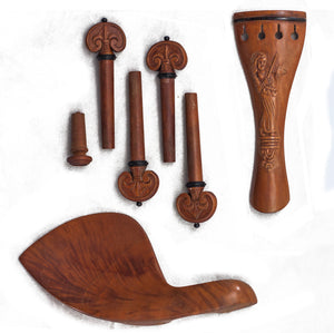 SKY Brand New 4/4 Full Size Jujube wood Violin Parts Set Carved Angel Pattern 7 Pcs