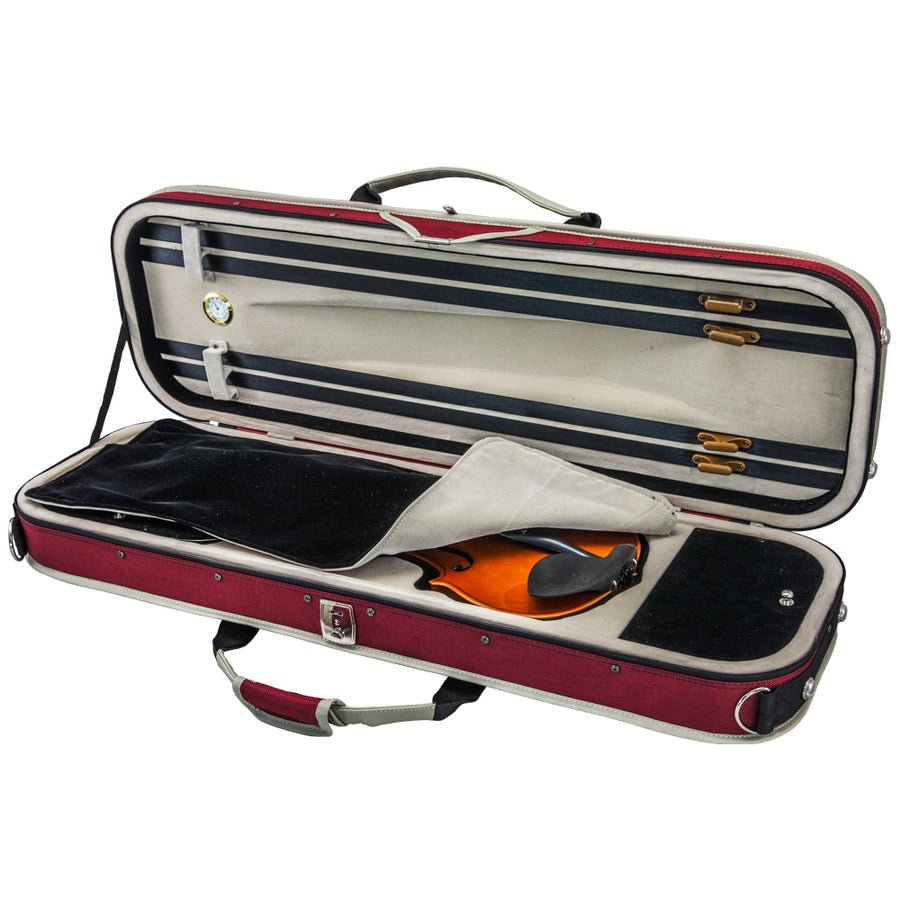 SKY Full Size SP01 Oblong Shape Sport Style Lightweight Violin Case Backpackable