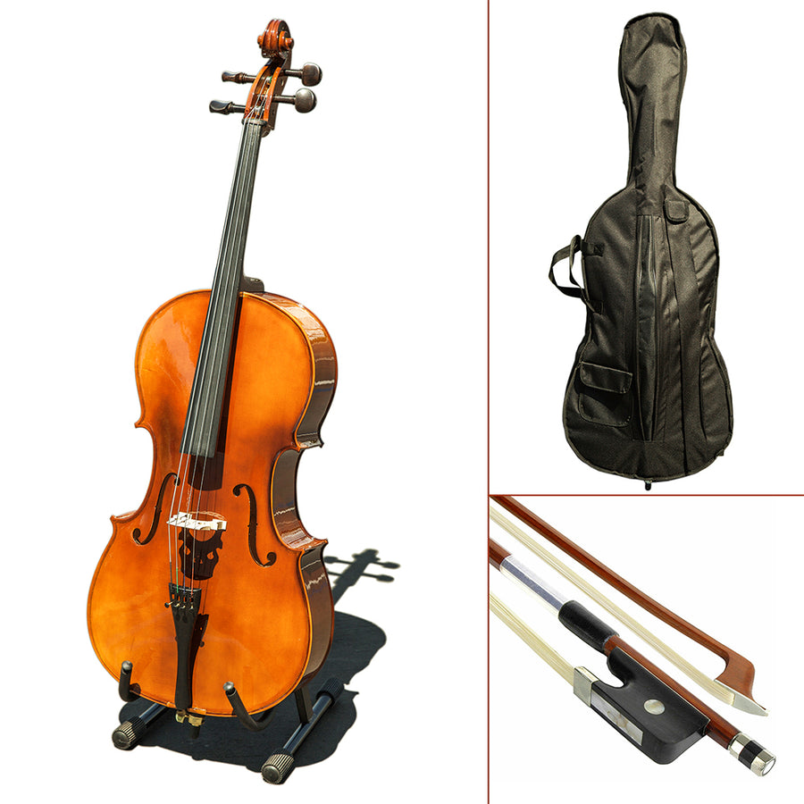 Paititi CE4009SE AVANT-GARDE Ebony Fitted Gloss Finish Solid Wood Cello