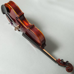 Sky FL003--EB-SBD269 Hand Made Professional 4/4 Full Size Violin Ebony Fitted Flammed Pattern