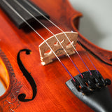 Beautiful Hand Carved Pattern Violin 4/4 Open Clear Tone Two Piece Maple Back
