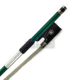 SKY 4/4 Violin Bow Satin Carbon Fiber Round Stick Double Pearl Eye Frog - Green