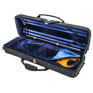 SKY SS100 Series 4/4 Size Violin Oblong Case with Hygrometer Black/Blue