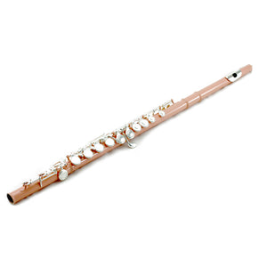 Sky C Foot Flute Velvet Pink Silver Closed Hole Band Approved