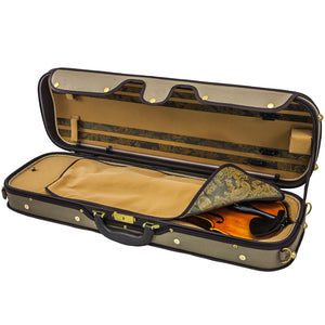 Sky Violin Oblong Case VNCW01 Solid Wood with Hygrometers Khaki/Yellow